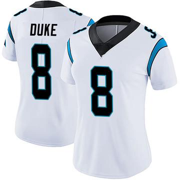 Women's Nike Carolina Panthers Austin Duke White Vapor Untouchable Jersey - Limited