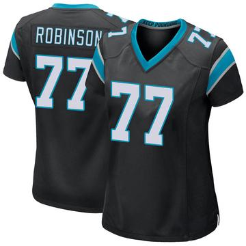 Women's Nike Carolina Panthers Austrian Robinson Black Team Color Jersey - Game