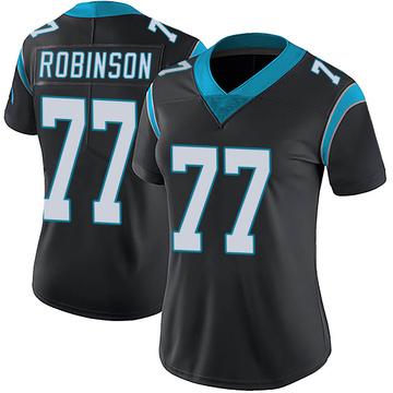 Women's Nike Carolina Panthers Austrian Robinson Black Team Color Vapor Untouchable Jersey - Limited