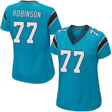 Women's Nike Carolina Panthers Austrian Robinson Blue Alternate Jersey - Game