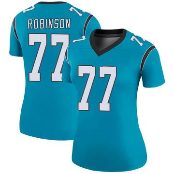 Women's Nike Carolina Panthers Austrian Robinson Blue Color Rush Jersey - Legend