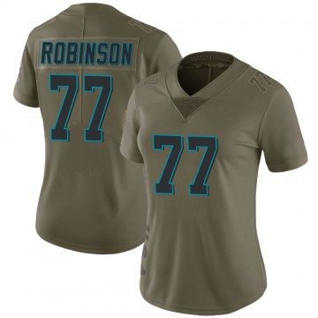 Women's Nike Carolina Panthers Austrian Robinson Green 2017 Salute to Service Jersey - Limited