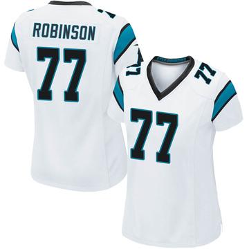 Women's Nike Carolina Panthers Austrian Robinson White Jersey - Game