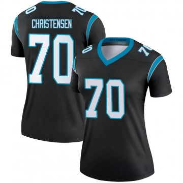 Women's Nike Carolina Panthers Brady Christensen Black Jersey - Legend