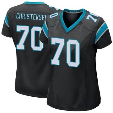 Women's Nike Carolina Panthers Brady Christensen Black Team Color Jersey - Game