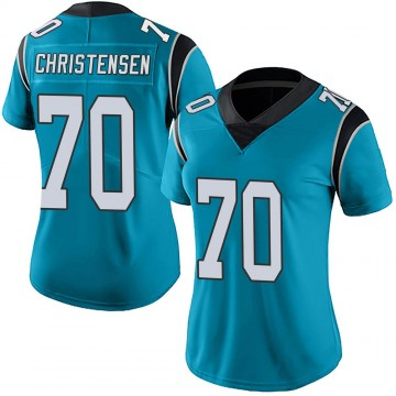 Women's Nike Carolina Panthers Brady Christensen Blue Alternate Vapor Untouchable Jersey - Limited