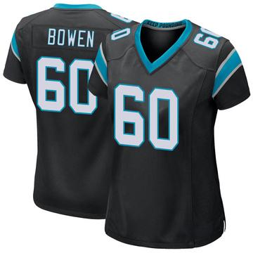 Women's Nike Carolina Panthers Branden Bowen Black Team Color Jersey - Game