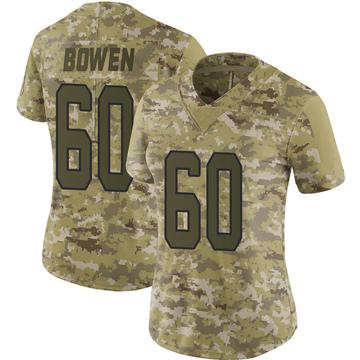 Women's Nike Carolina Panthers Branden Bowen Camo 2018 Salute to Service Jersey - Limited