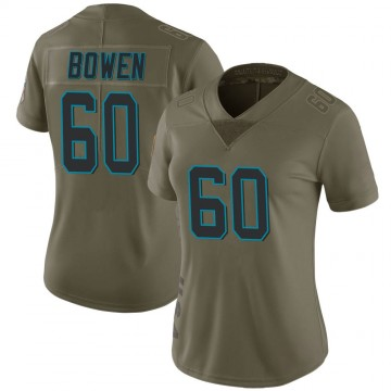 Women's Nike Carolina Panthers Branden Bowen Green 2017 Salute to Service Jersey - Limited
