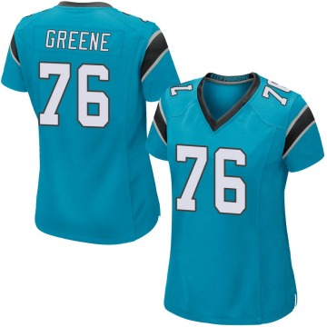 Women's Nike Carolina Panthers Brandon Greene Blue Alternate Jersey - Game