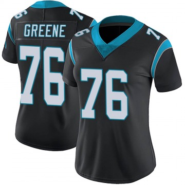 Women's Nike Carolina Panthers Brandon Greene Green Black Team Color Vapor Untouchable Jersey - Limited