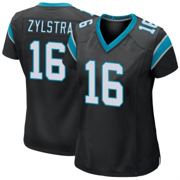 Women's Nike Carolina Panthers Brandon Zylstra Black Team Color Jersey - Game