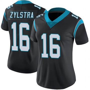 Women's Nike Carolina Panthers Brandon Zylstra Black Team Color Vapor Untouchable Jersey - Limited