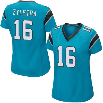 Women's Nike Carolina Panthers Brandon Zylstra Blue Alternate Jersey - Game