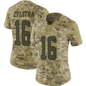 Women's Nike Carolina Panthers Brandon Zylstra Camo 2018 Salute to Service Jersey - Limited