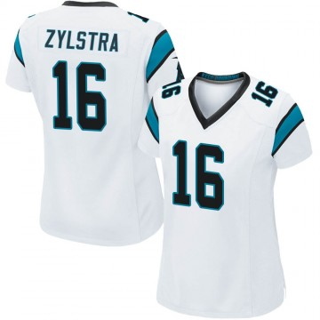 Women's Nike Carolina Panthers Brandon Zylstra White Jersey - Game