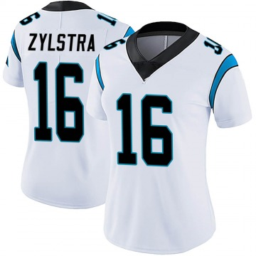 Women's Nike Carolina Panthers Brandon Zylstra White Vapor Untouchable Jersey - Limited