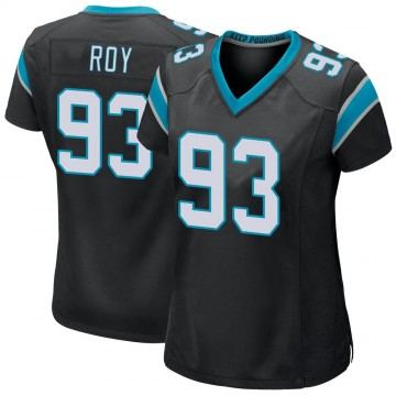 Women's Nike Carolina Panthers Bravvion Roy Black Team Color Jersey - Game