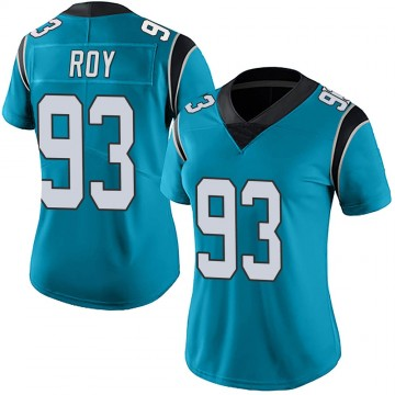 Women's Nike Carolina Panthers Bravvion Roy Blue Alternate Vapor Untouchable Jersey - Limited