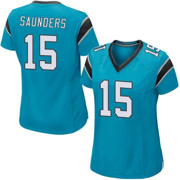 Women's Nike Carolina Panthers C.J. Saunders Blue Alternate Jersey - Game