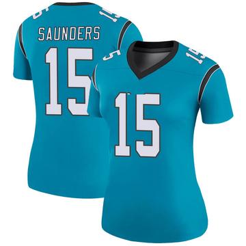 Women's Nike Carolina Panthers C.J. Saunders Blue Color Rush Jersey - Legend