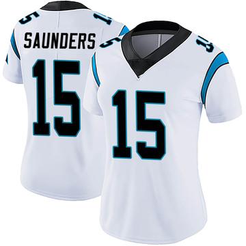 Women's Nike Carolina Panthers C.J. Saunders White Vapor Untouchable Jersey - Limited