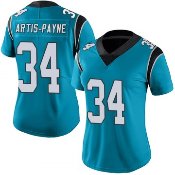 Women's Nike Carolina Panthers Cameron Artis-Payne Blue Alternate Vapor Untouchable Jersey - Limited
