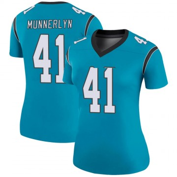 Women's Nike Carolina Panthers Captain Munnerlyn Blue Color Rush Jersey - Legend