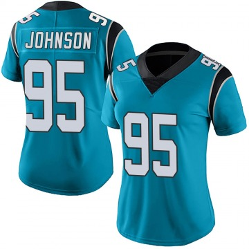 Women's Nike Carolina Panthers Charles Johnson Blue Alternate Vapor Untouchable Jersey - Limited