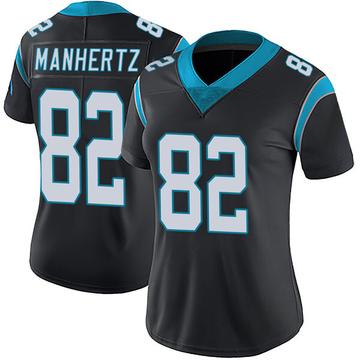 Women's Nike Carolina Panthers Chris Manhertz Black Team Color Vapor Untouchable Jersey - Limited