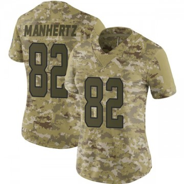 Women's Nike Carolina Panthers Chris Manhertz Camo 2018 Salute to Service Jersey - Limited