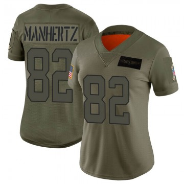 Women's Nike Carolina Panthers Chris Manhertz Camo 2019 Salute to Service Jersey - Limited
