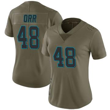 Women's Nike Carolina Panthers Chris Orr Green 2017 Salute to Service Jersey - Limited