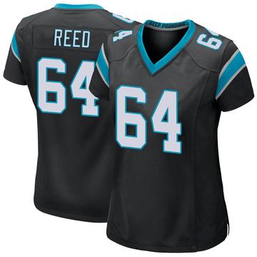 Women's Nike Carolina Panthers Chris Reed Black Team Color Jersey - Game