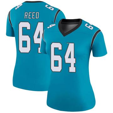Women's Nike Carolina Panthers Chris Reed Blue Color Rush Jersey - Legend