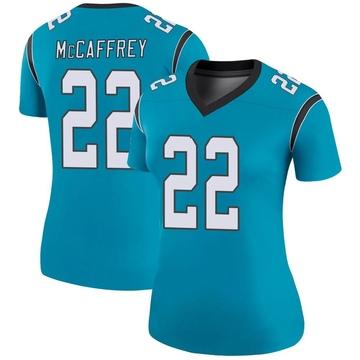 Women's Nike Carolina Panthers Christian McCaffrey Blue Color Rush Jersey - Legend