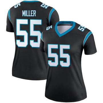 Women's Nike Carolina Panthers Christian Miller Black Jersey - Legend