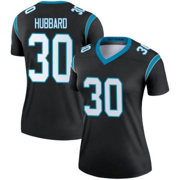 Women's Nike Carolina Panthers Chuba Hubbard Black Jersey - Legend