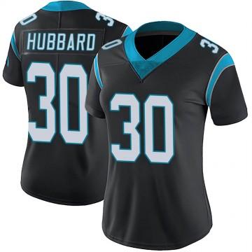 Women's Nike Carolina Panthers Chuba Hubbard Black Team Color Vapor Untouchable Jersey - Limited
