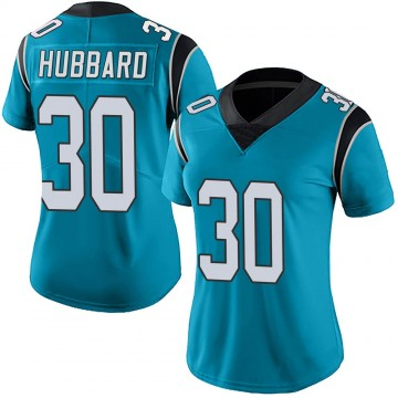 Women's Nike Carolina Panthers Chuba Hubbard Blue Alternate Vapor Untouchable Jersey - Limited