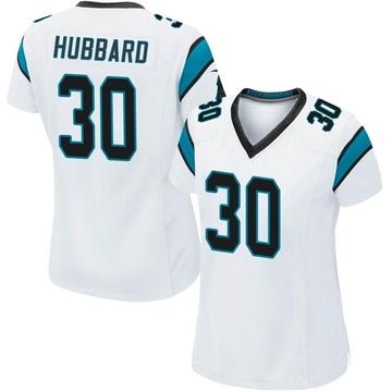 Women's Nike Carolina Panthers Chuba Hubbard White Jersey - Game