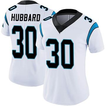 Women's Nike Carolina Panthers Chuba Hubbard White Vapor Untouchable Jersey - Limited