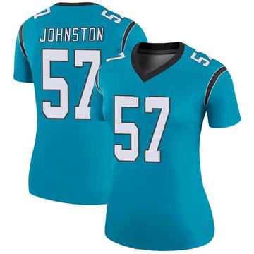 Women's Nike Carolina Panthers Clay Johnston Blue Color Rush Jersey - Legend
