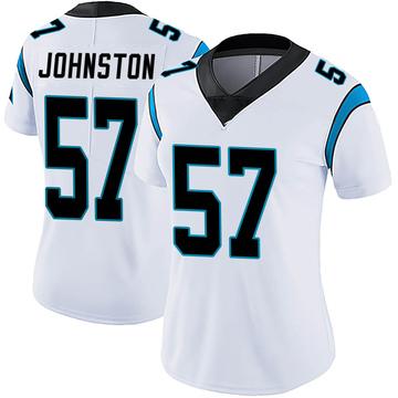 Women's Nike Carolina Panthers Clay Johnston White Vapor Untouchable Jersey - Limited