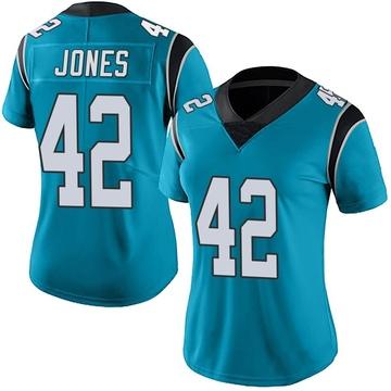 Women's Nike Carolina Panthers Colin Jones Blue Alternate Vapor Untouchable Jersey - Limited