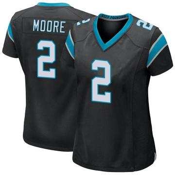Women's Nike Carolina Panthers DJ Moore Black Team Color Jersey - Game