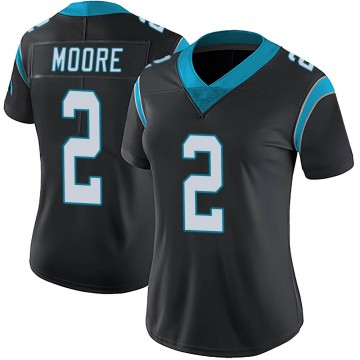 Women's Nike Carolina Panthers DJ Moore Black Team Color Vapor Untouchable Jersey - Limited