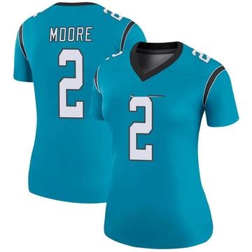 Women's Nike Carolina Panthers DJ Moore Blue Color Rush Jersey - Legend