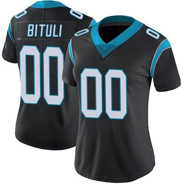 Women's Nike Carolina Panthers Daniel Bituli Black Team Color Vapor Untouchable Jersey - Limited