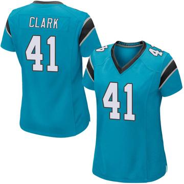 Women's Nike Carolina Panthers Darius Clark Blue Alternate Jersey - Game